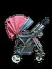 Детская прогулочная коляска Belecoo 511 розовая, фото 3