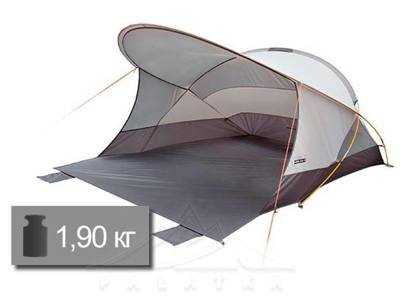 Тент пляжный HIGH PEAK Мод. CORDOBA 80 (220x200x125cм)(1,90кГ)(серый) R89484