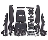 Резиновые коврики для отсеков на Toyota Corolla 2013-18
