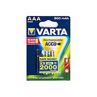Аккумулятор VARTA R2U Micro 1.2V - HR03/AAA 800 мАч (2 шт)