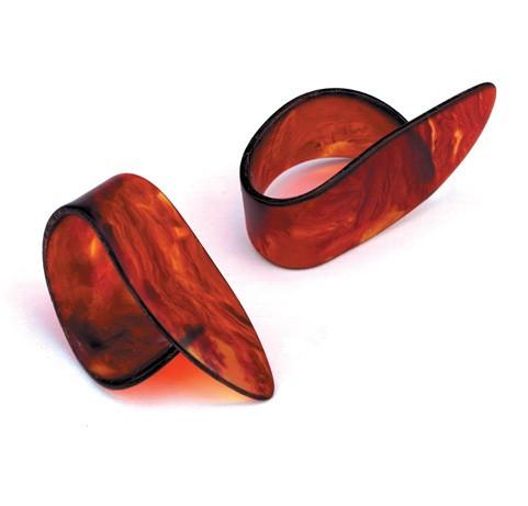 Медиаторы на большой палец, средние, цвет - коричневый, из целлулоида высокого качества
