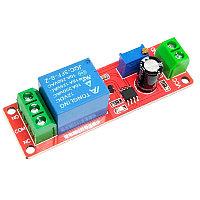 Реле задержки включения 12В, 0-10сек,chip NE555,комутация 220в/10А