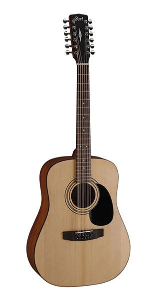 Акустическая гитара 12-струнная, цвет натуральный, Cort AD810-12-OP Standard Series