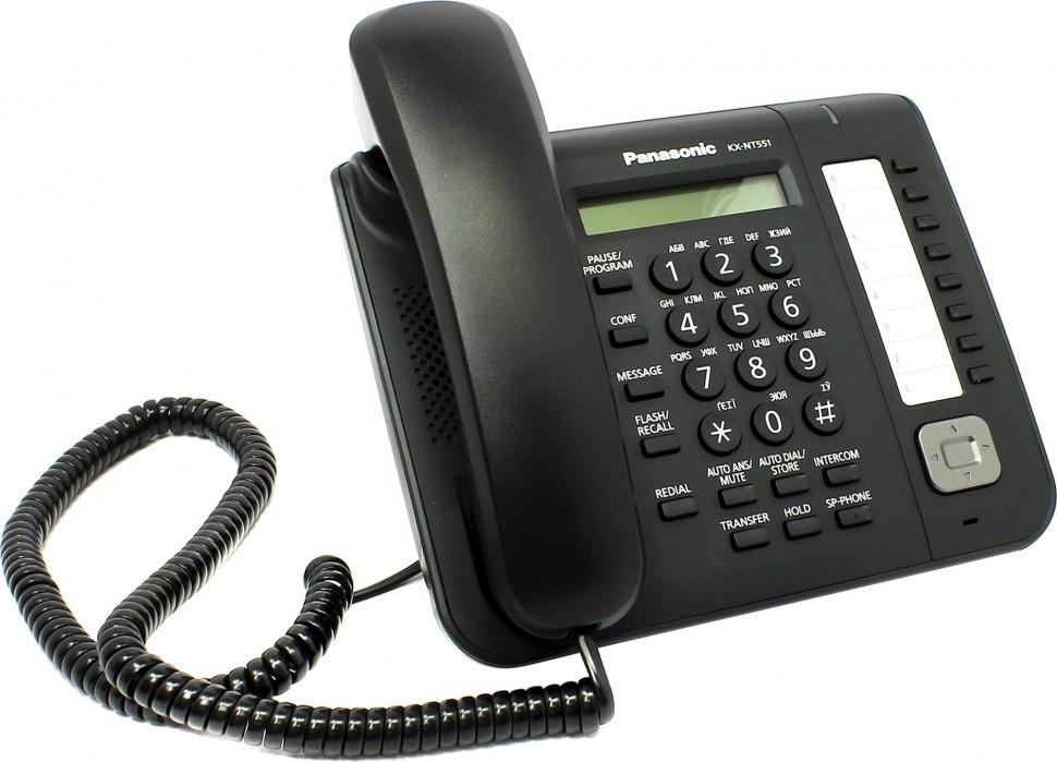 Телефон Panasonic KX-NT551RUB