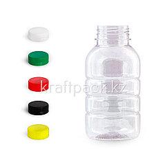 Бутылка 300мл, с широким горлом 38мм «Бочонок» (100шт/уп) (Цвет крышки на выбор)