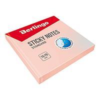 """Клейкие листки BERLINGO """"Standard"""" 76х76 мм, розовый, 100 листов"""