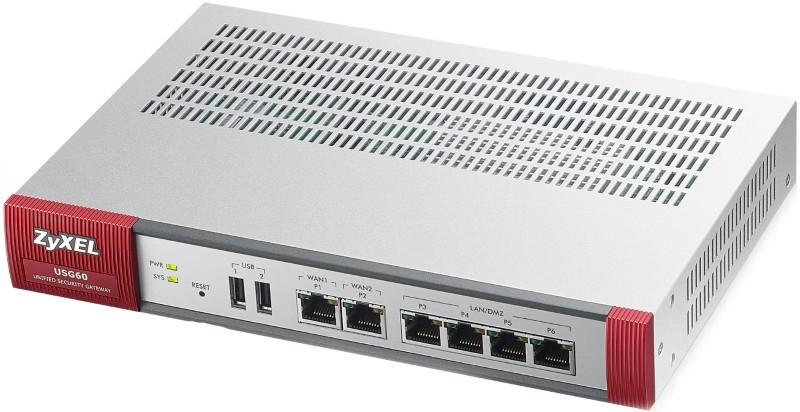 Межсетевой экран Zyxel USG60 (Device only) (USG60-RU0101F)