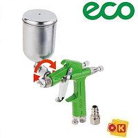Краскораспылитель 0.2л сопло ф 1.0 мм, поворотный бак. ECO SG-1500
