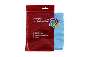 Салфетка универсальная из микрофибры TZLine Glass, размер 36*34 см, синяя