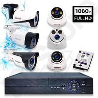 AHD Готовый комплект видеонаблюдения на 8 уличных камер, фото 1