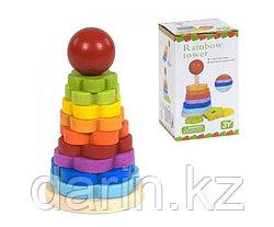 Игра детская настольная деревянная Пирамидка