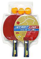 Набор Start Line 2 ракетки Level 200, 3 мяча Club Select