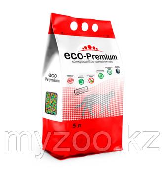 ECO-Premium Тутти фрути, 5 л |Эко-премиум комкующийся древесный наполнитель|