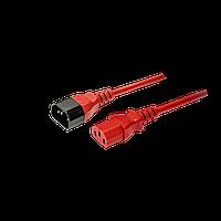Кабель питания IEC320-C14/IEC320-C13, 220B, 10А, 1.8м, красный (для резервного питания)