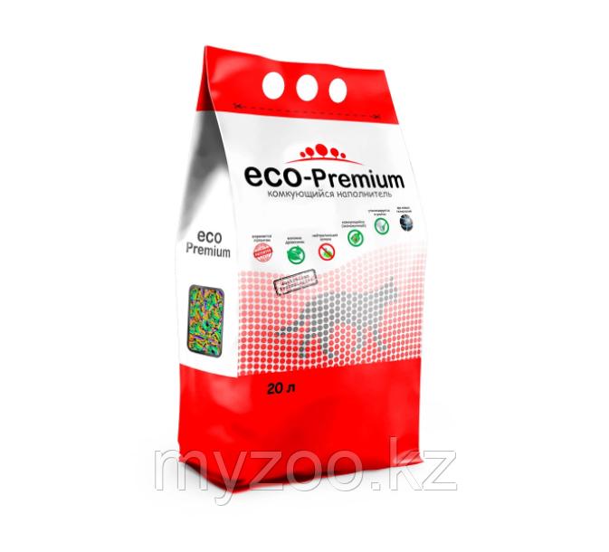 ECO-Premium тутти-фрутти, 20 л  Эко-премиум комкующийся древесный наполнитель 