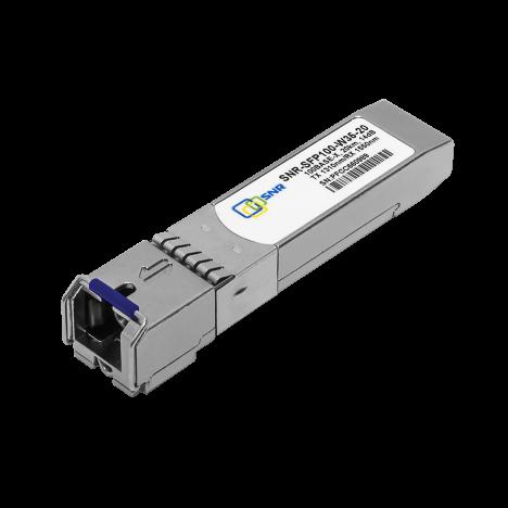 Модуль SFP WDM, дальность до 20км (14dB), 1310нм, 100Mb, бывший в употреблении.