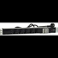 Блок сет.розеток S-5 ВА47 10A/250B~, 5 розеток Schuko (CEE 7/7), термоэлектромагнитный автоматический
