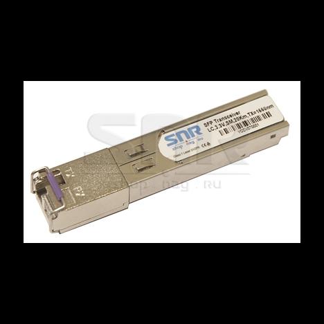 Одноволоконный модуль, SFP SGMII WDM, разъем LC simplex, рабочая длина волны Tx/Rx: 1550/1310нм, дальность до