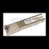 Одноволоконный модуль, SFP SGMII WDM, разъем LC simplex, рабочая длина волны Tx/Rx: 1310/1550нм, дальность до