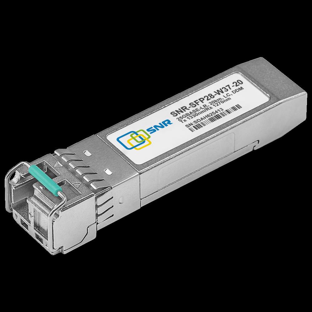 Модуль SFP28 WDM, 25GBASE, разъем LC, дальность до 40км, 1330нм