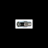 Переходник ТV-папа/F-мама для стыковки ТВ-кабеля с ТВ розеткой или телевизором (100шт)
