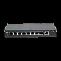 PoE коммутатор неуправляемый PUS-T08L-115M, 8x10/100BASE-TX 802.3af&at + 1х10/100/1000BASE-TX, c изол. портов,