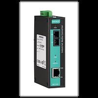 Медиаконвертер Ethernet 10/100BaseTX в 100BaseFX (одномодовое оптоволокно) в металлическом корпусе, с
