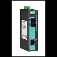 Медиаконвертер Ethernet 10/100BaseTX в 100BaseFX (многомодовое оптоволокно) в металлическом корпусе с