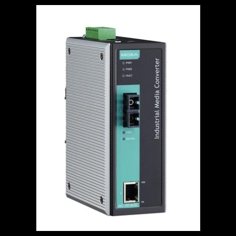 Медиаконвертер Ethernet 10/100BaseTX в 100BaseFX (многомодовое оптоволокно) в металлическом корпусе MOXA