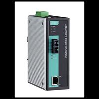 Медиаконвертер Ethernet 10/100BaseTX в 100BaseFX (одномодовое оптоволокно) в металлическом корпусе с