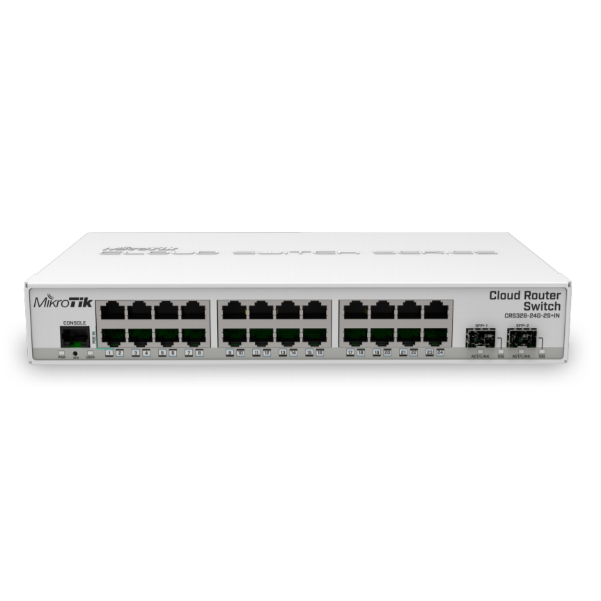 Коммутатор Cloud Router Switch Mikrotik CRS326-24G-2S+IN