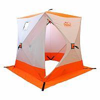 Палатка зимняя Куб 1,5х1,5х1,7м 01/03 СЛЕДОПЫТ бело-оранжевый PF-TW-01