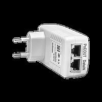 PoE инжектор неуправляемый PI-154-1B, 1x10/100BASE-T 802.3af, PoE бюджет 15.4Вт