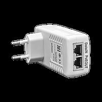 PoE инжектор неуправляемый PI-250-1P, 1x10/100BASE-TX 50В PoE passive, PoE бюджет 25Вт
