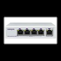 PoE коммутатор/удлинитель интерфейса Ethernet 10/100/1000Mbs PEXT 1/4. 4 PoE выхода, 1 PoE вход, совм. с