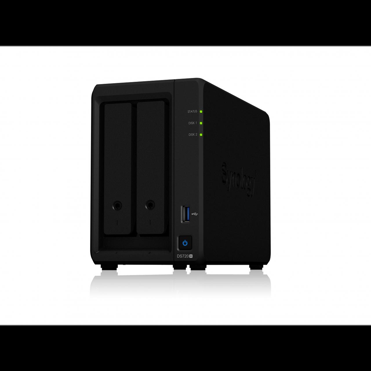 "Сетевое хранилище Synology DiskStation DS720+, 2xHDD 3,5"", 2х1000Base-T, без дисков"