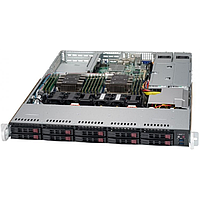 "Платформа Supermicro 1U SYS-1029P-WTRT, Два процессора Intel Xeon Scalable, DDR4, 10x2,5"" HDD SATA,"