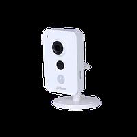 Wi-Fi камера Dahua DH-IPC-K15P миникуб 1.3Мп, объектив 2.8мм, 12В, microSD, встр.микрофон/динамик, DWDR, ИК до