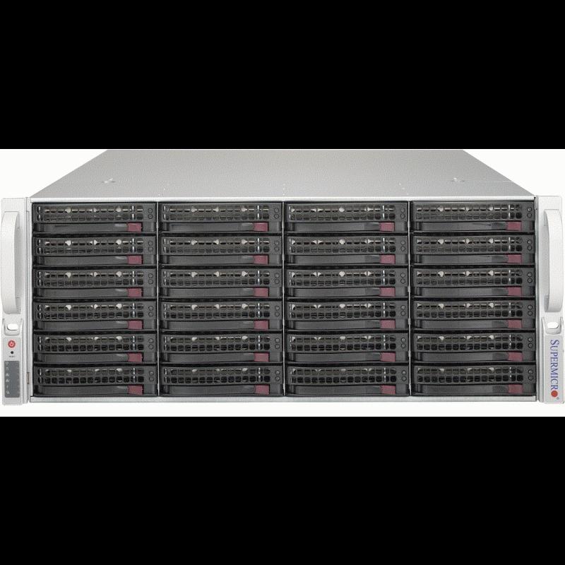 "Платформа Supermicro 4U SSG-5049P-E1CTR36L, Один процессор Intel Xeon Scalabl, Intel C622, DDR4, 36x3.5""HDD,"