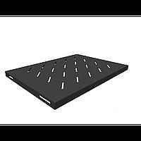 Полка стационарная для шкафов глубиной 600мм, (глубина полки 350мм) распределенная нагрузка 20кг, цвет-черный