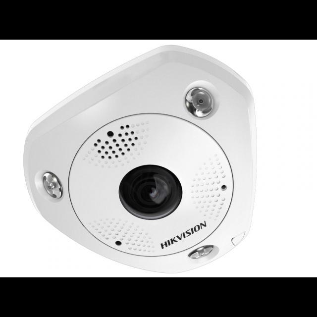 """Миникупольная IP-камера """"рыбий глаз"""" DS-2CD6362F-IVS, 6Мп,1.2мм,12V/PoE,ИК подсветка до 15м, объектив Fish"""