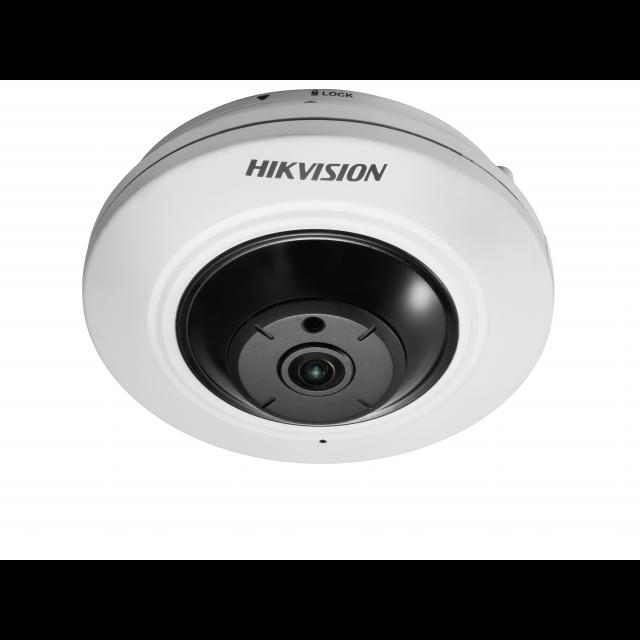 Миникупольная IP-камера рыбий глаз DS-2CD2942F, 4Мп,1.6мм,12V/PoE,объектив Fish Eye.