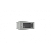 Шкаф телекоммуникационный настенный 4U, 523х300х234мм серия LITE (стеклянная дверь)