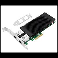 Сетевая карта c POE 2 порта 100/1000Base-T SNR-PE2P1GT