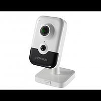 Внутренняя IP-камера DS-I214(B) (2.8mm), 2Мп, 2.8мм, ИК до 10м, DWDR, microSD до 128Гб, DC12В/PoE, встр. микр.