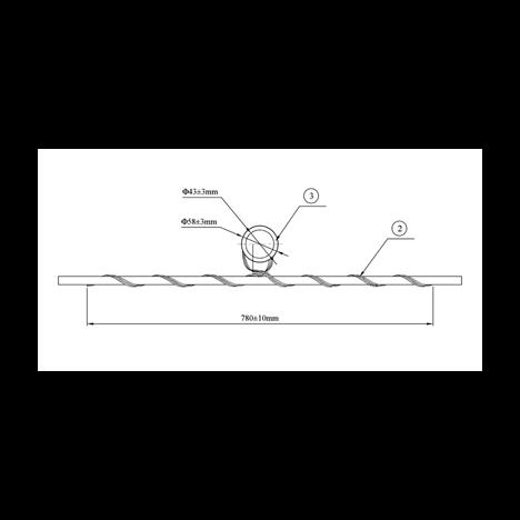 Зажим (подвес) поддерживающий промежуточный (диаметр 6,0-8,0мм)