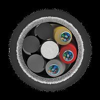 Кабель оптический самонесущий диэлектрический, 8 волокон, 6.0кН, 11.0мм, катушка 1км.