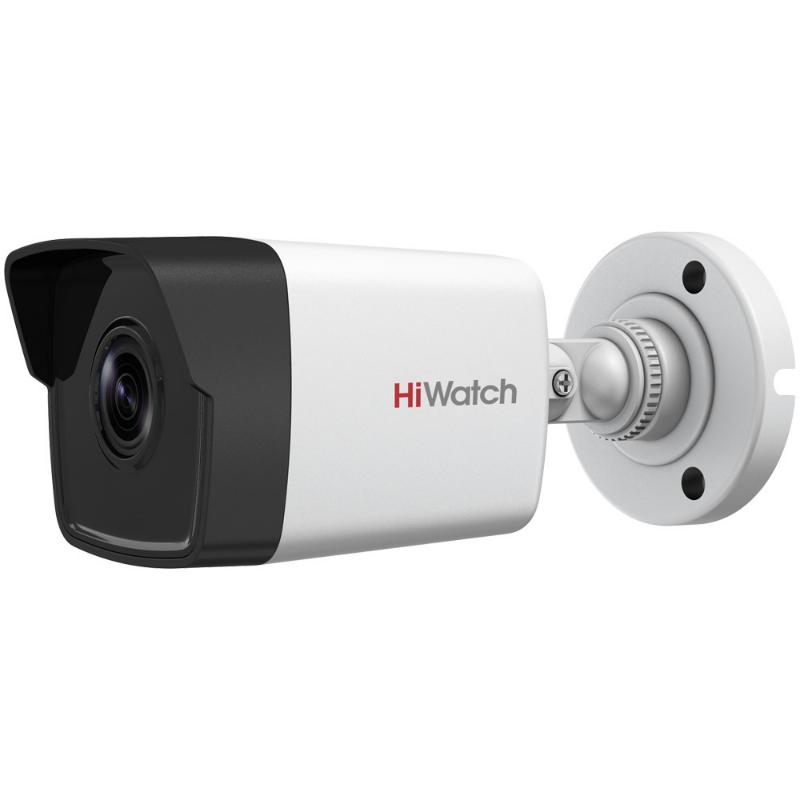 Уличная цилиндрическая IP-камера DS-I450 (2.8mm), 4Мп, фикс. объектив 2.8мм, ИК до 30м, WDR 120дБ, DC12В/PoE,