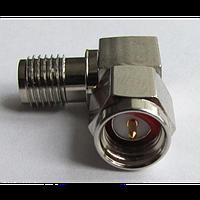 ВЧ переходник угловой S-412 (SMA-male -SMA-female)