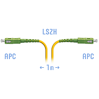 Патчкорд SC/APC-SC/APC SM 1м